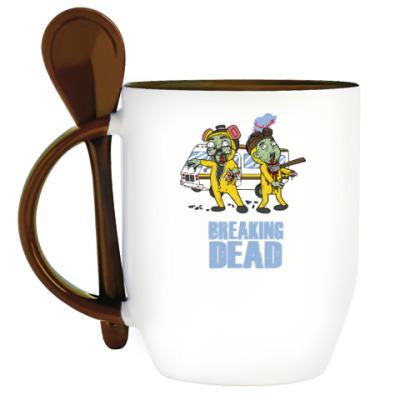 Кружка с ложкой Breaking Dead