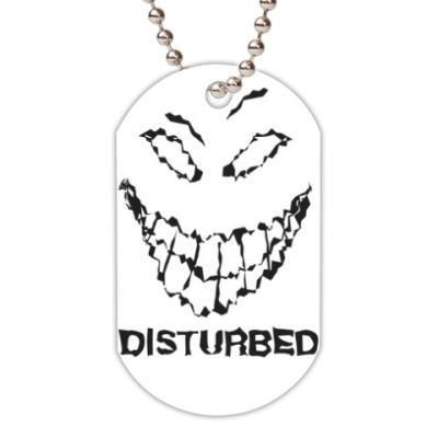 Жетон dog-tag Disturbed face
