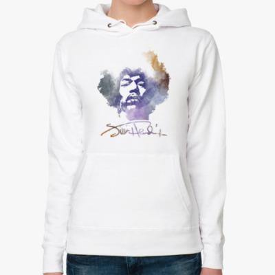 Женская толстовка худи Jimi Hendrix - Джими Хендрикс