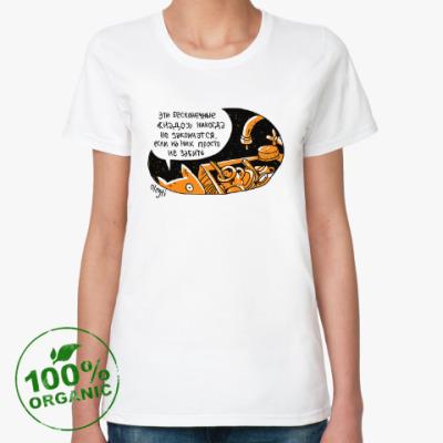 Женская футболка из органик-хлопка «надо»