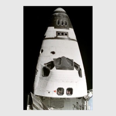 Постер Шаттл Атлантис в космосе