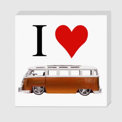 Холст I Love Bus