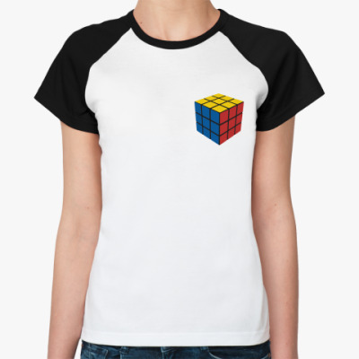 Женская футболка реглан Кубик Рубика