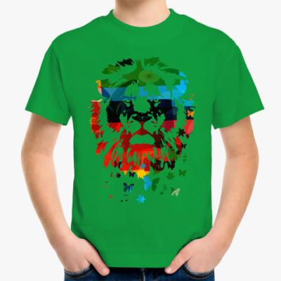 Детская футболка Лев и... бабочки