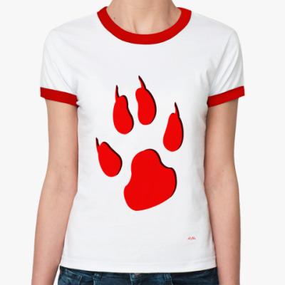 Женская футболка Ringer-T Лапа