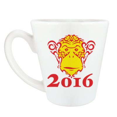 Чашка Латте Год обезьяны 2016