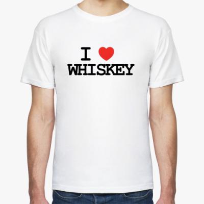 Футболка  I love whiskey