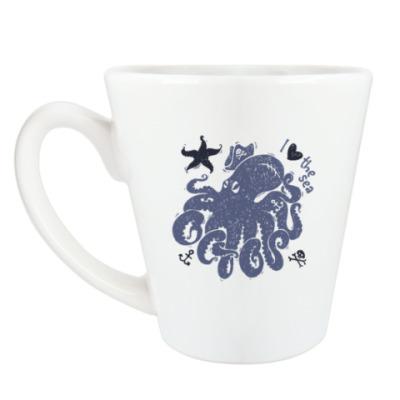 Чашка Латте  octopus