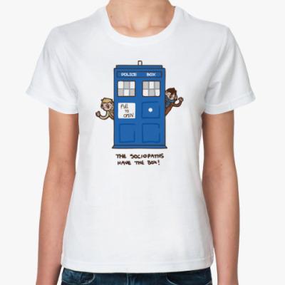 Классическая футболка Wholock(Шерлок)