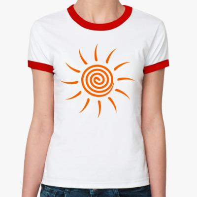 Женская футболка Ringer-T Солнышко