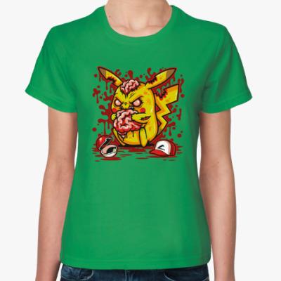 Женская футболка Пикачу Монстр