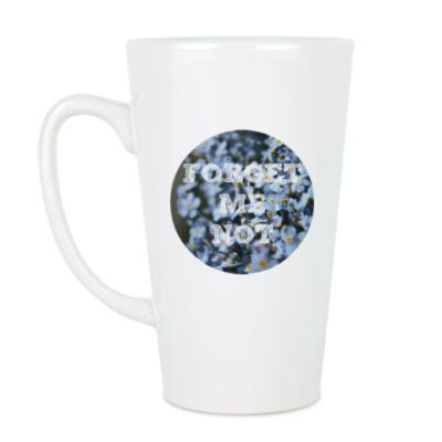 Чашка Латте Незабудки