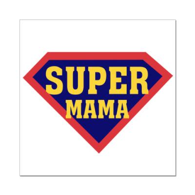 Наклейка (стикер) Супер мама