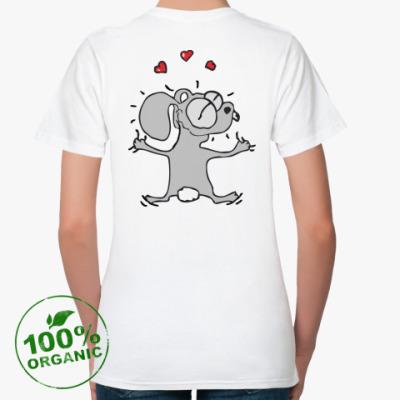 Женская футболка из органик-хлопка Кролик