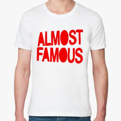 Футболка из органик-хлопка Надпись ALMOST FAMOUS