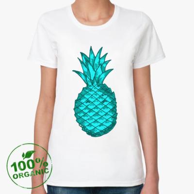 Женская футболка из органик-хлопка Зеленый ананас