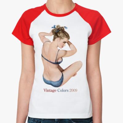 Женская футболка реглан  Vintage Colors 2009