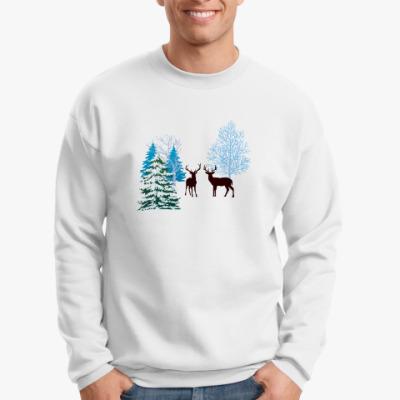 Свитшот Зимние олени
