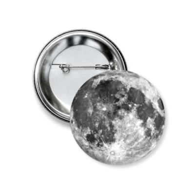 Значок 37мм  'Moon'
