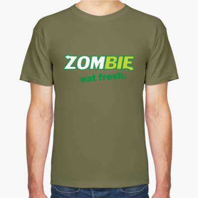 Футболка Zombie - eat fresh