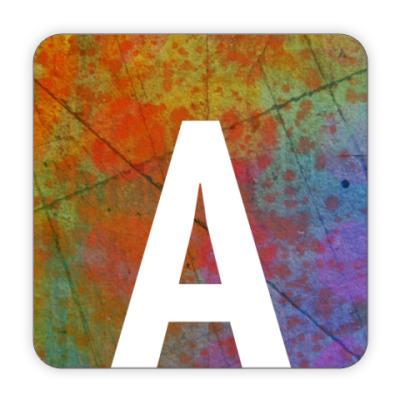 Костер (подставка под кружку) Alphabet