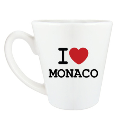 Чашка Латте I Love Monaco