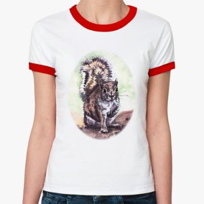 Женская футболка Ringer-T Белочка