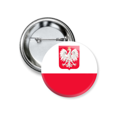 Значок 37мм Польша