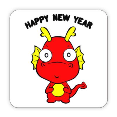 Костер (подставка под кружку) Новогодний дракончик