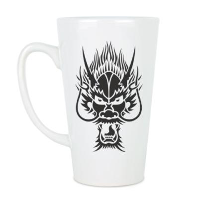 Чашка Латте Голова дракона