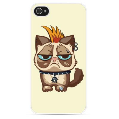 Чехол для iPhone Кот Тард (Grumpy Cat) неформал