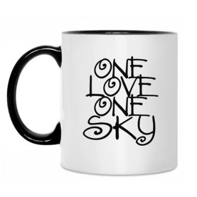 Кружка ONE love, ONE sky