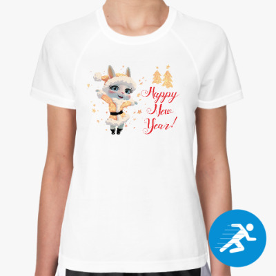 Женская спортивная футболка Зайка Луна