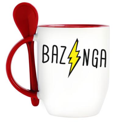 Кружка с ложкой Bazinga