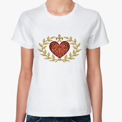 Классическая футболка Cердце