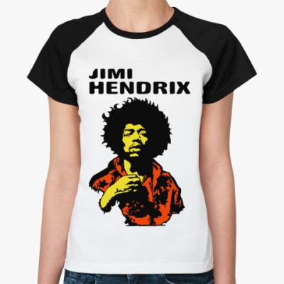 Женская футболка реглан Jimmi Hendrix
