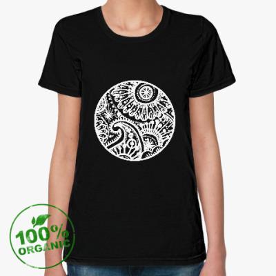 Женская футболка из органик-хлопка Круг