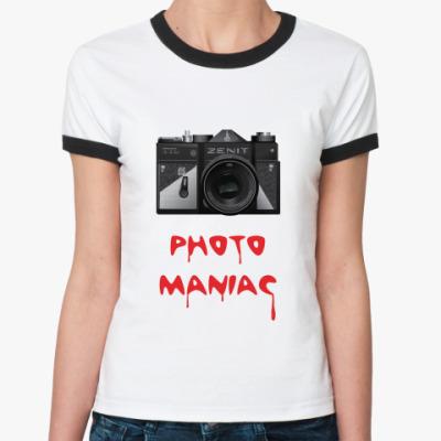 Женская футболка Ringer-T  Photo maniac