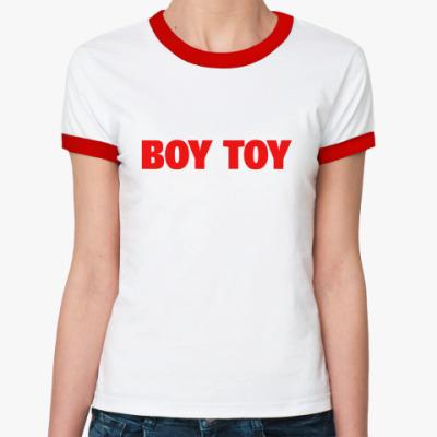 Женская футболка Ringer-T Boy toy