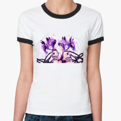 Женская футболка Ringer-T Anime art
