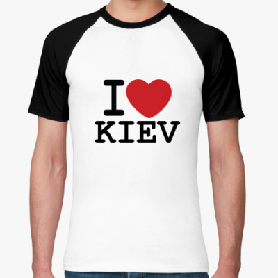 Футболка реглан I Love Kiev