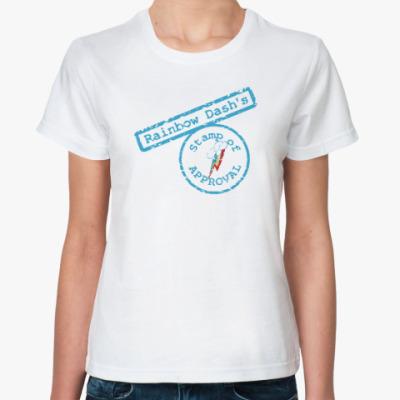 Классическая футболка Пони Радуга Дэш