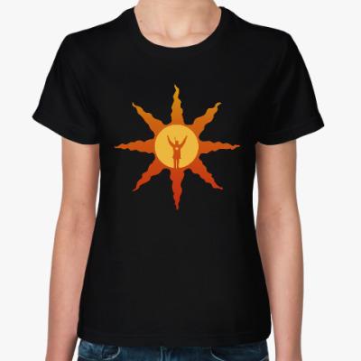 Женская футболка dark souls sun