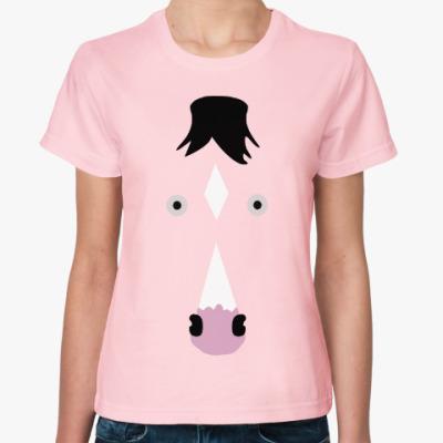 Женская футболка Конь