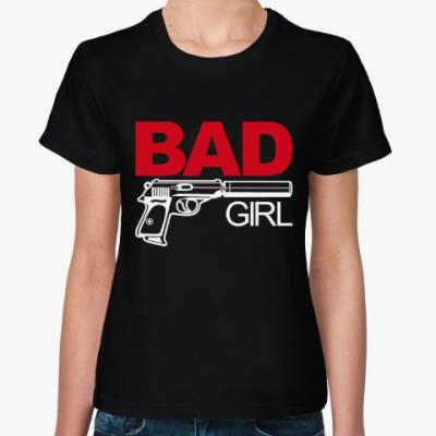 Женская футболка Bad girl (плохая девушка)