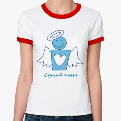 Женская футболка Ringer-T Сущий Ангел