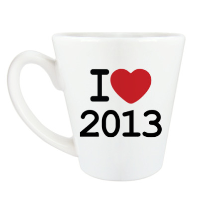 Чашка Латте Новогодний принт I Love 2013