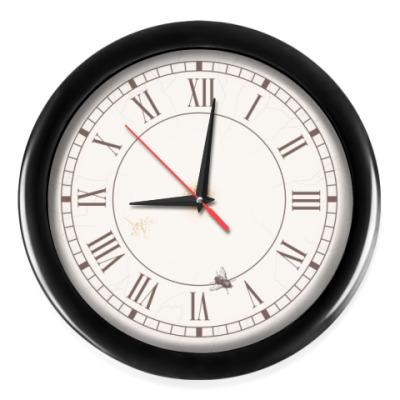 Настенные часы Английский стиль с мухой