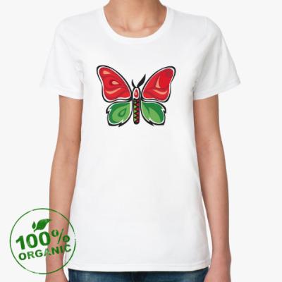Женская футболка из органик-хлопка Бабочка-Метаморфоза