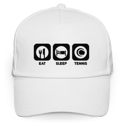 Кепка бейсболка Eat sleep tennis